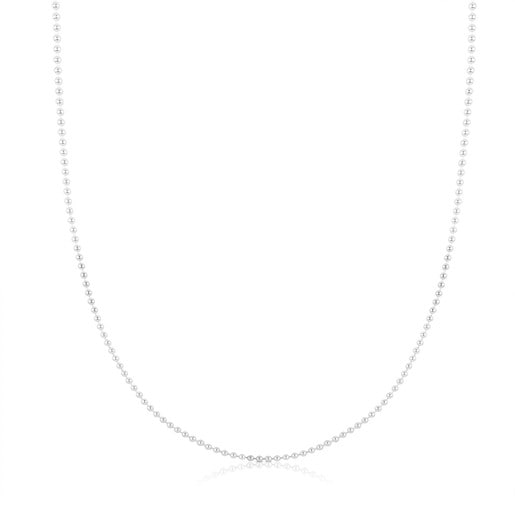 Silver TOUS Chain Choker balls 3mm length 80cm