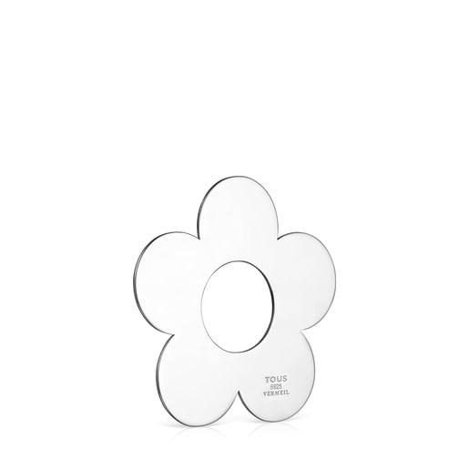 Colgante grande Hold Metal flor de Plata