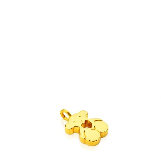 ペンダント Sweet Dolls くまハート 18.5mm 18金イエローゴールド