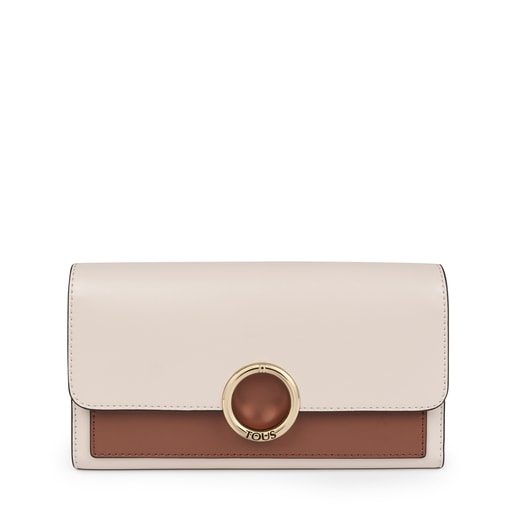 Medium beige and brown Audree wallet