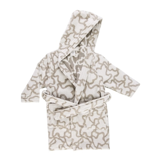 Kaos dressing gown in grey