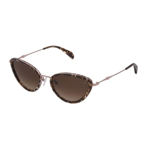 Brown Metal Metal Bear Sunglasses