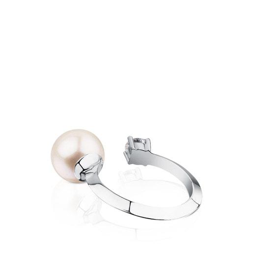 Anillo ATELIER Classic de Oro blanco con Perla y Diamante