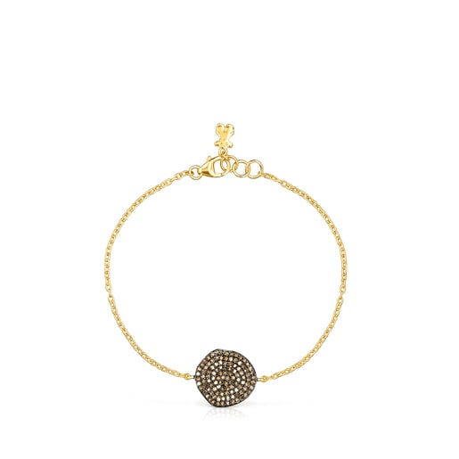 Pulsera Nenufar de plata vermeil y diamantes
