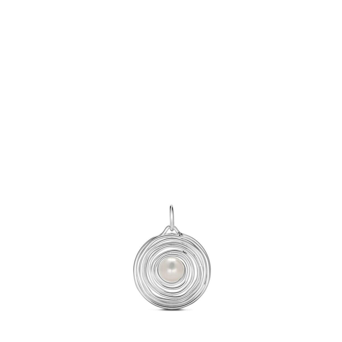 Silver Niu Pendant with Pearl