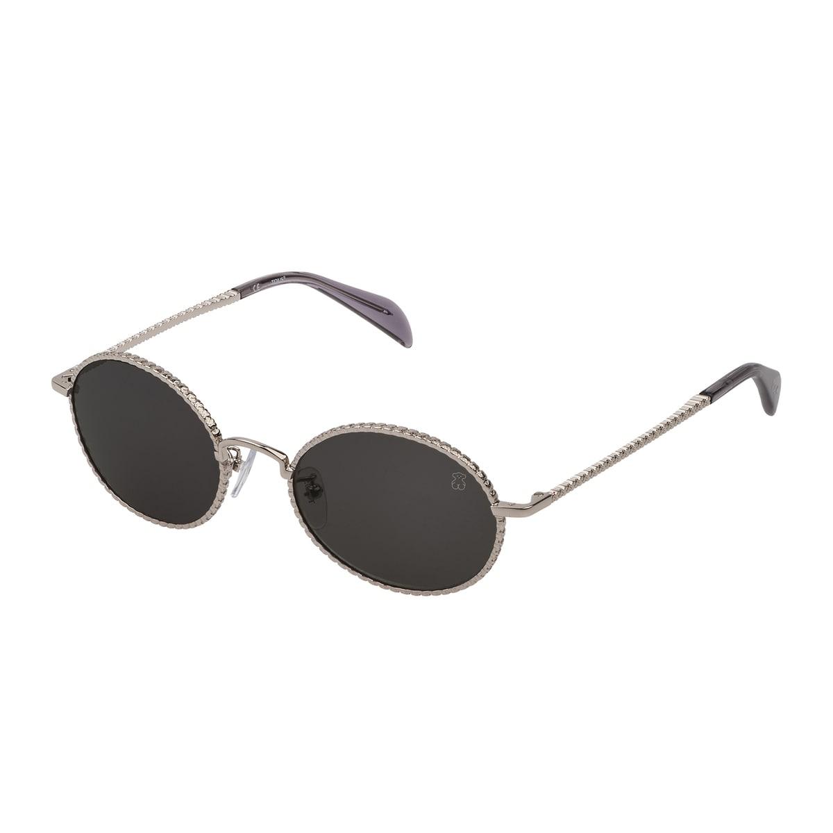 Óculos de sol Urso Straight em Metal na cor prata