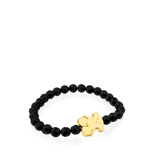 Tous Silver Sweet Dolls Bracelet With Onyx Authentic