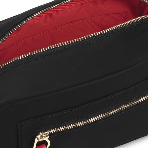 Μεσαίου μεγέθους μαύρη τσάντα Χιαστί Shelby