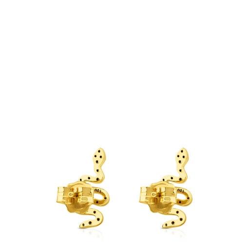 Aros Gem Power de Oro con Diamantes