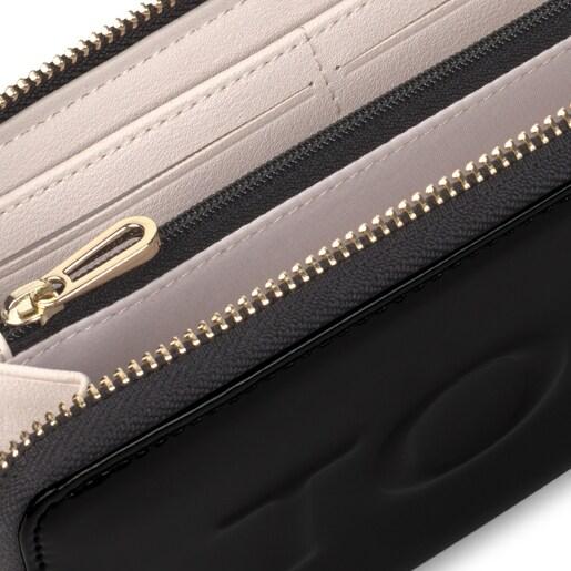 Medium black and beige Grata Dorp Wallet