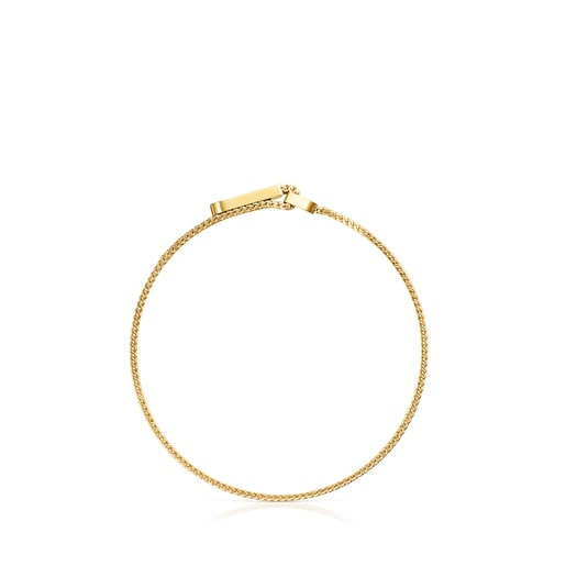 Gold-colored IP Steel Mesh Bracelet magnet closure