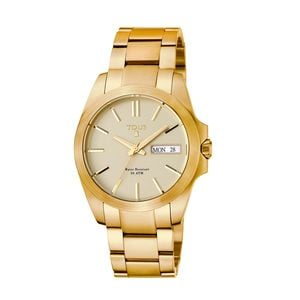 Gold IP Steel Drive Matt Watch