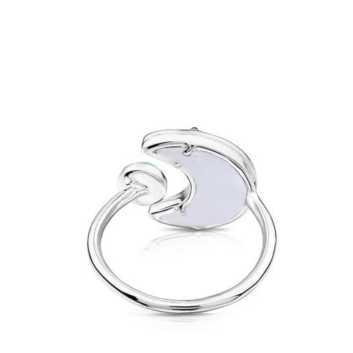 Anillo Lune Cherie de plata con gemas