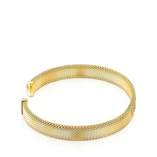 Gold-colored IP Steel Mesh Bracelet