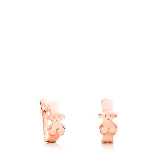 Pendientes Gen de Plata Vermeil rosa