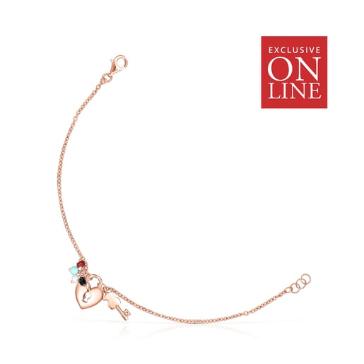 San Valentín Rose Vermeil Bracelet with Gemstones - Online Exclusive
