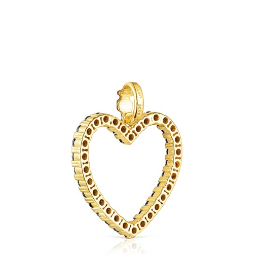 Valentine's Day heart Pendant with Spinels