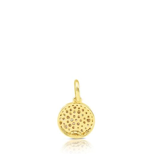 Colgante de oro con diamantes 10mm Gem Power