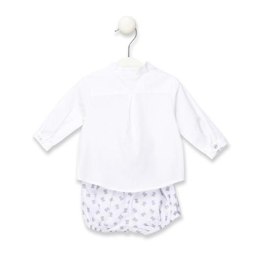 Conjunto camisa e short Orbeez Cinzento