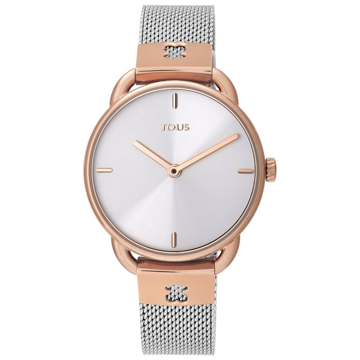 Reloj Let Mesh bicolor acero/IP rosado
