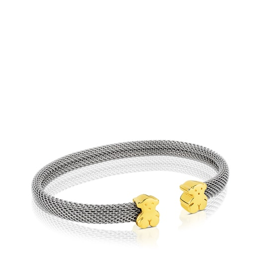 Mesh Gold and Steel Bangle