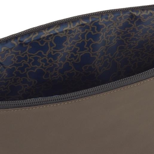 Mittelgroße Handtasche Kaos Shock Shelby Reversible in Khaki