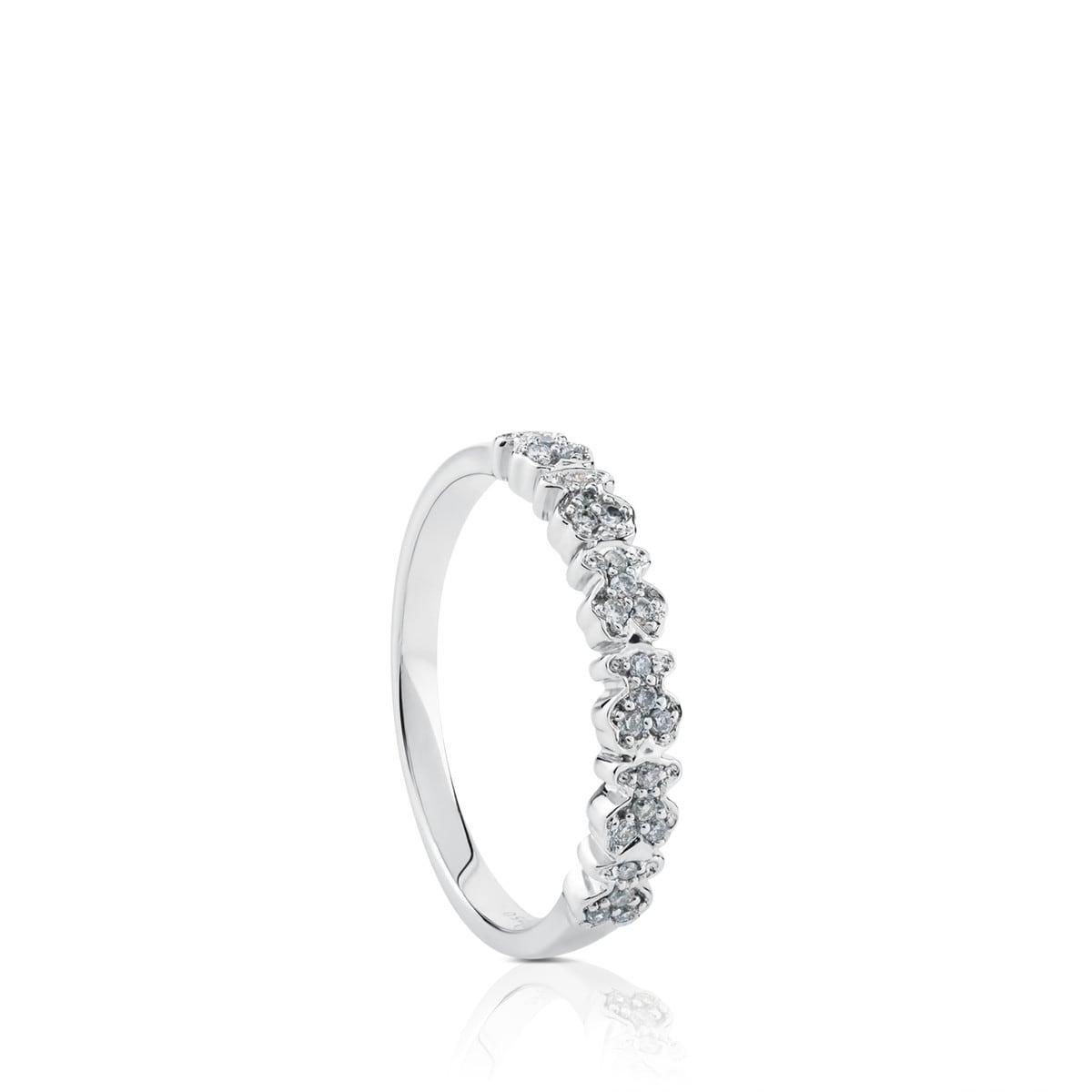 742d9c8106cc Anillo Fancy de Oro blanco con Diamantes - Sitio web Tous España