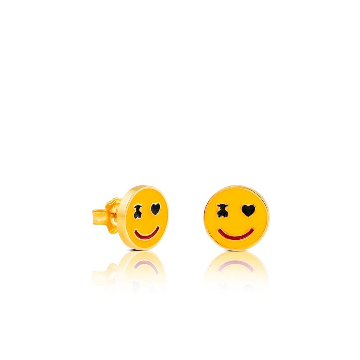 Pendientes Smile de Plata Vermeil