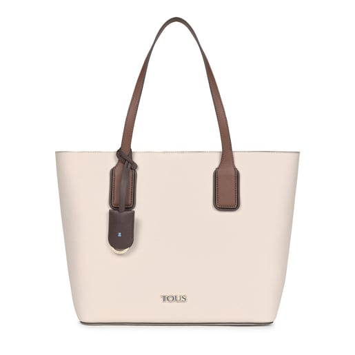 Large beige and brown TOUS Essential Tote bag