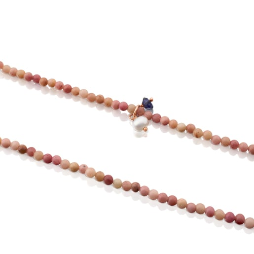 Rose Silver Vermeil Camille Necklace with Iolite and Pearl