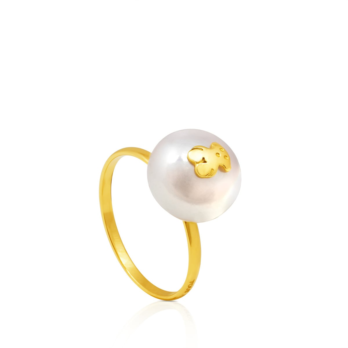 Gold Sweet Dolls Ring with Pearl