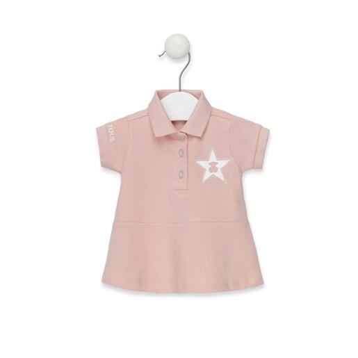 Vestido M/C polo Rosa