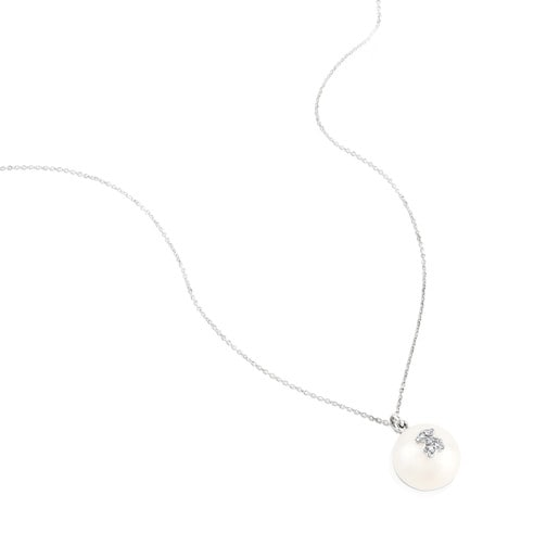White Gold Puppies Necklace