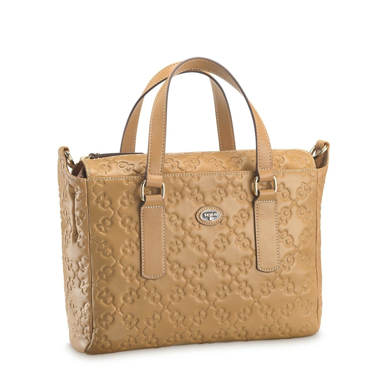 Camel colored Leather Infinit Tote bag