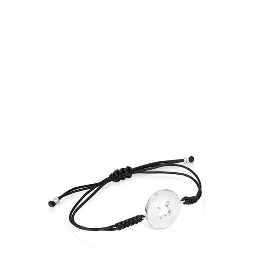 Silver and black Cord Glory Bracelet