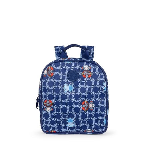 Small blue School Logogram Backpack