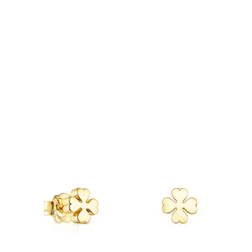 Gold TOUS Good Vibes clover Earrings