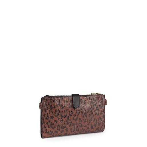 Πορτοφόλι-τσάντα clutch Bridgy Exotic από Δέρμα σε κοκκινωπό χρώμα