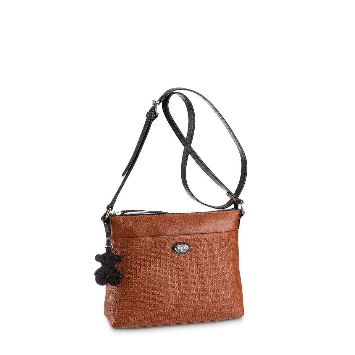 Natural-black colored Leather Urban Pixie Crossbody bag