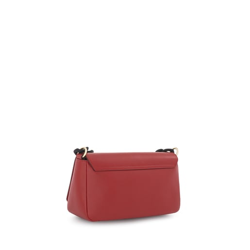 Bandolera Baguette Bridgy de piel en color Rojo