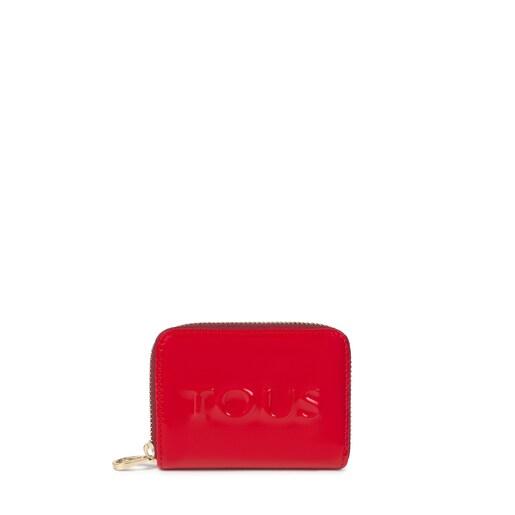 Monedero mediano Dorp rojo