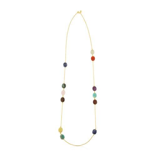 Vermeil Silver Terra Necklace with Gemstones