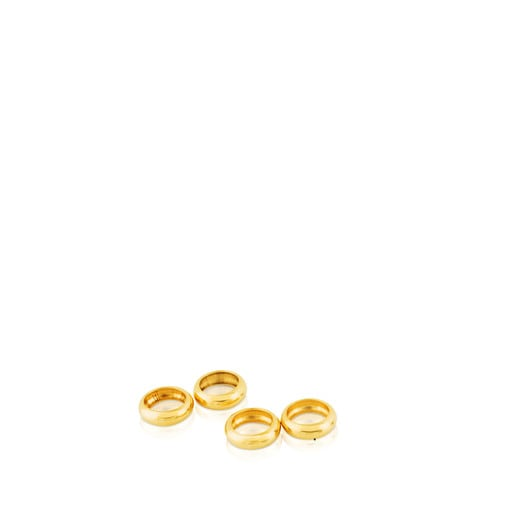 Pack of 4 TOUS pendant rings for Gold TOUS Chokers