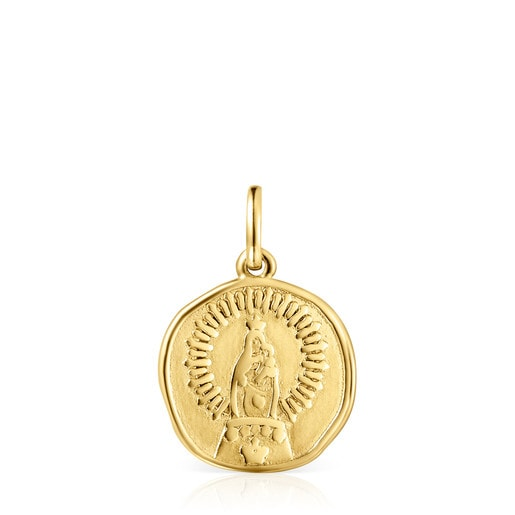 Dije Devoción Virgen del Pilar de Oro