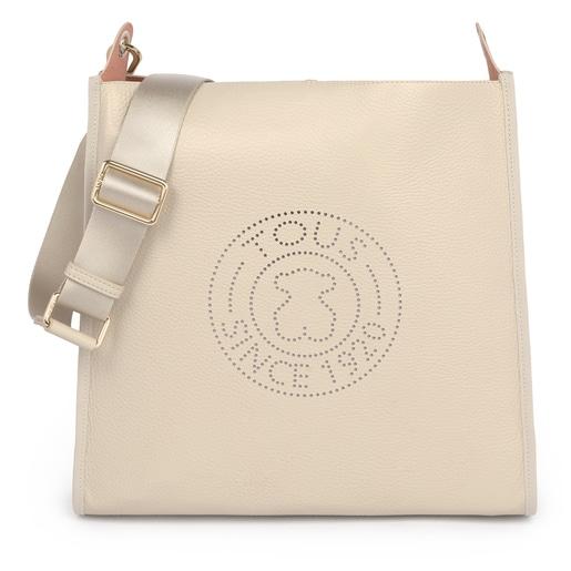 Beige Leather Leissa shoulder bag