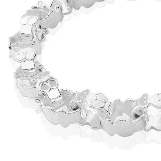 Pulsera de plata con eslabones TOUS Bear