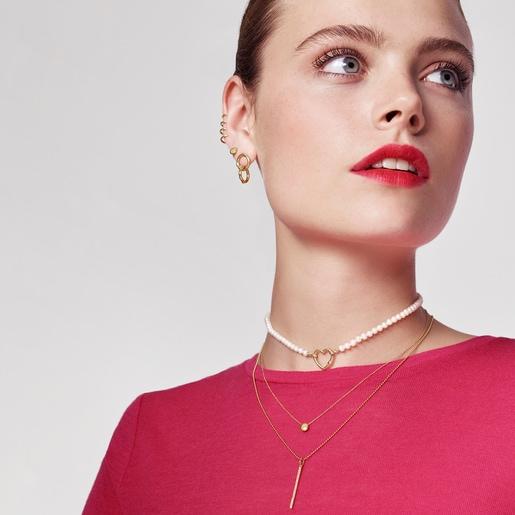 Herz-Halskette Hold aus Gold mit Perlen