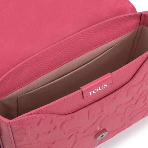 Mala a tiracolo média TOUS Icon LOVE cor-de-rosa
