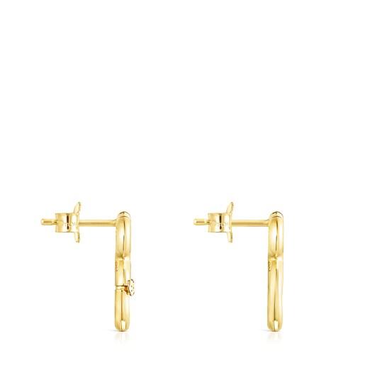 Gold Hold Bear Earrings