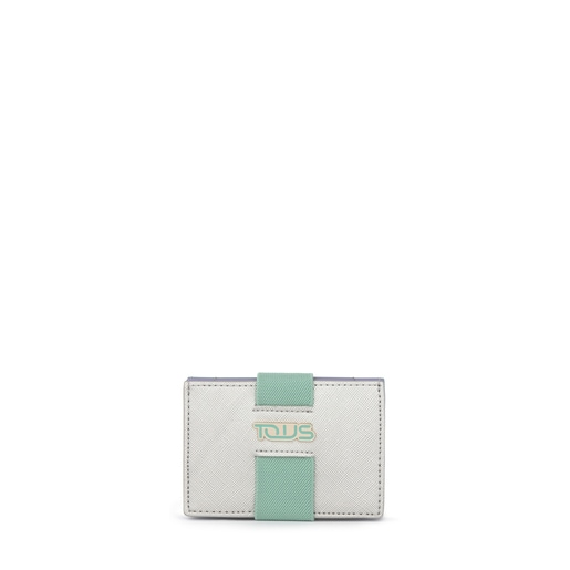 Small silver-green New Essence Clutch bag